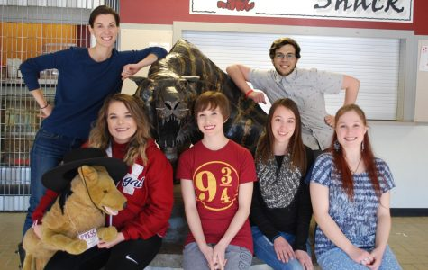 Manipulated by Declan Garrison. From left to right, Megan Walsh (Adviser), Jaurdyn Johnson (Editor), Jada Lecce (Head Writer), Danielle Nelson (Head Writer), Kameron Kottas (Head Writer), Selena Goddard (Head Writer)