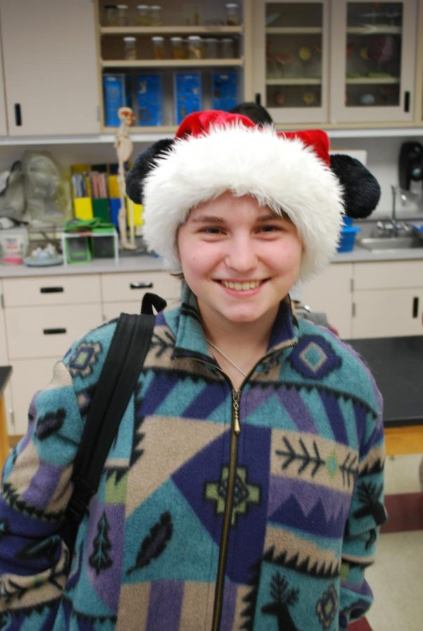 Gwen Roszel shows her love for Christmas and Disney with this hat!