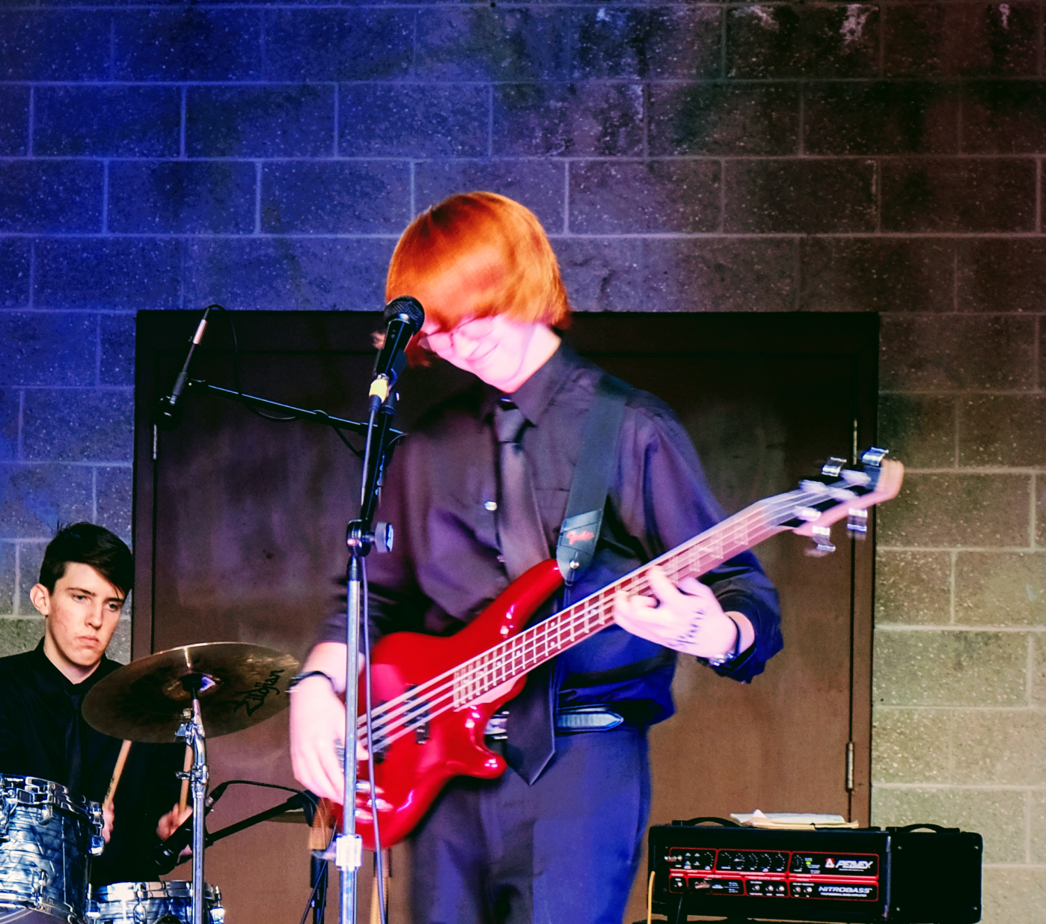 Spank, a rock band made up of Helena High students, performs in the fall Quadratum Music Festival at Performance Square in downtown Helena.